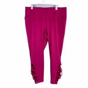 LIVI by Lane Bryant Hot Pink CrissCross Legging 22